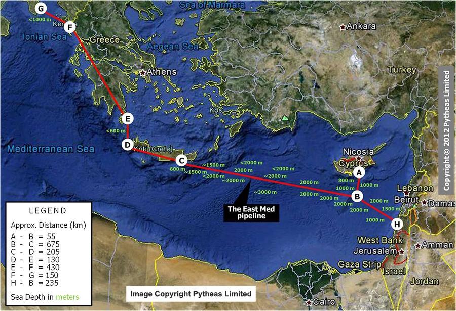 bf858803218f4 Кипр, Италия, Греция и Израиль договорились о поддержке строительства  газопровода East Med