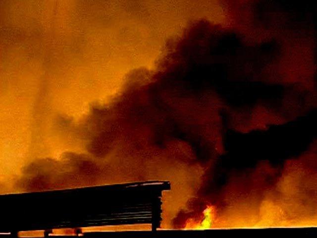 Впожаре нанефтебазе вЛенинградской области погибли два человека