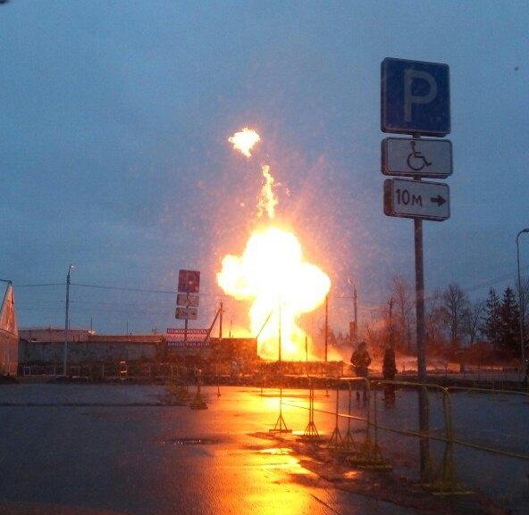 ВГатчине частично отключили электричество из-за взрыва нагазопроводе