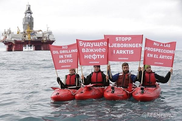 Схваченные активисты Greenpeace вНорвегии вновь насвободе