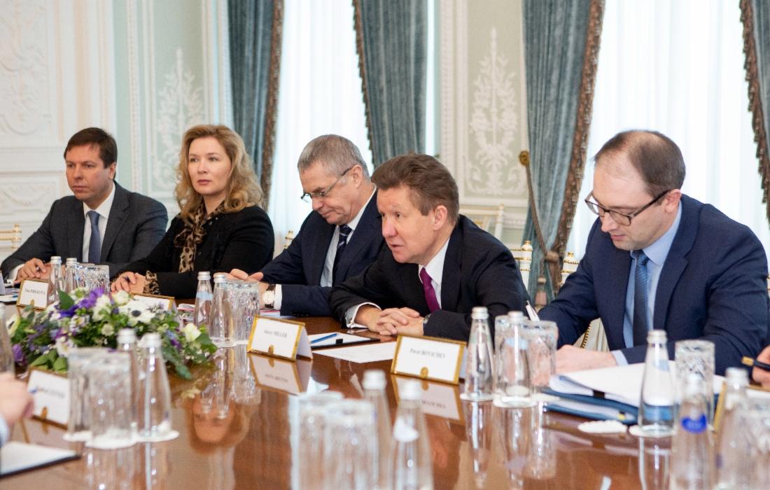 Газпром иOMVAG обсудили ход возведения газопровода «Северный поток— 2»